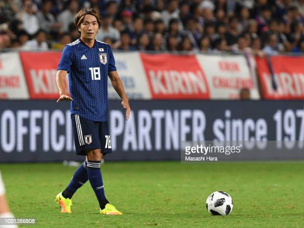 Jun Amano of Japan looks on during the international friendly match between Japan and Costa Rica at Suita City Football Stadium on September 11, 2018...
