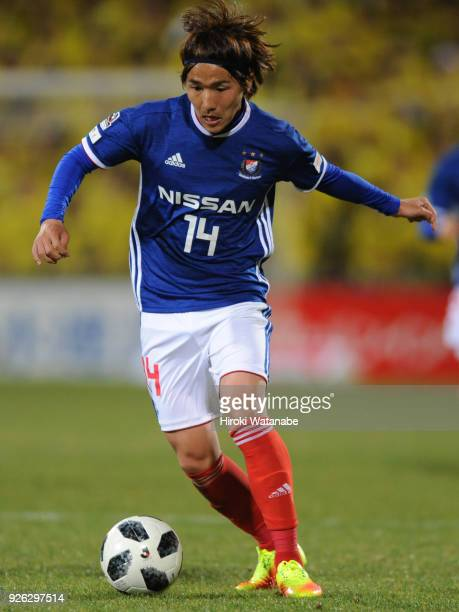 Jun Amano of Yokohama F.Marinos in action during the J.League J1 match between Kashiwa Reysol and Yokohama F.Marinos at Sankyo Frontier Kashiwa...