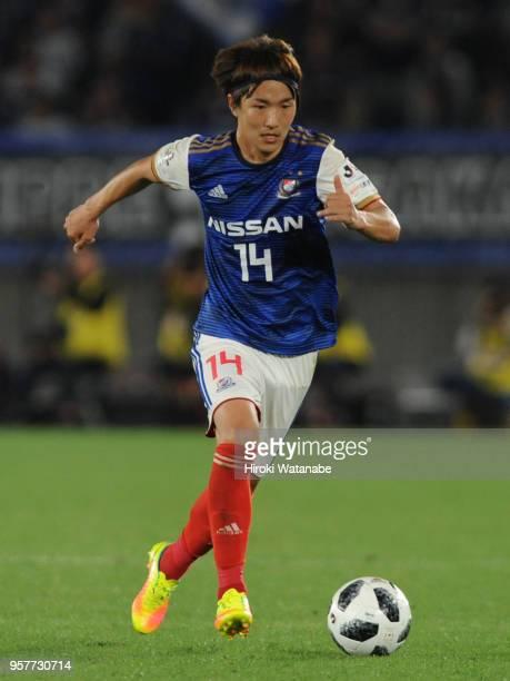 Jun Amano of Yokohama FMarinos in action during the JLeague J1 match between Yokohama FMarinos and Gamba Osaka at Nissan Stadium on May 12 2018 in...