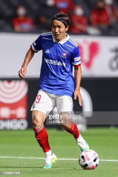 Jun Amano of Yokohama F.Marinos in action during the J.League Meiji Yasuda J1 match between Consadole Sapporo and Yokohama F.Marinos at the Sapporo...