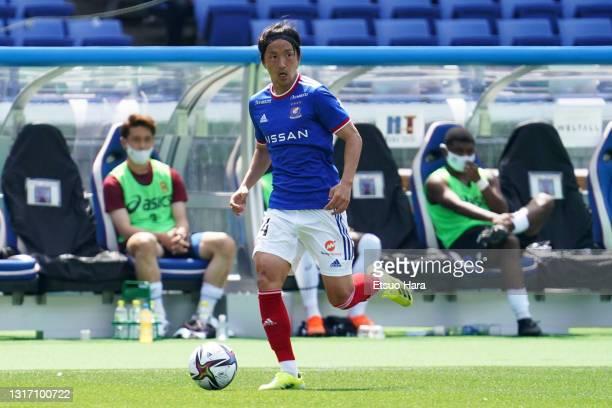 Jun Amano of Yokohama F.Marinos in action during the J.League Meiji Yasuda J1 match between Yokohama F.Marinos and Vissel Kobe at Nissan Stadium on...