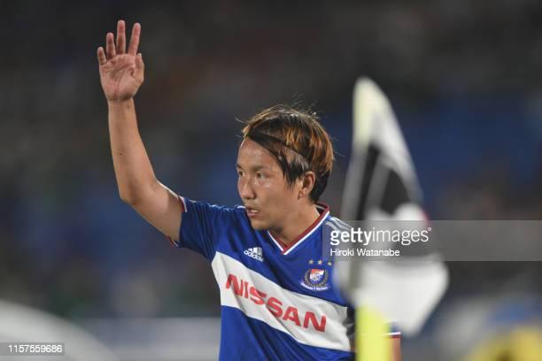 Jun Amano of Yokohama F.Marinos looks on during the J.League J1 match between Yokohama F.Marinos and Matsumoto Yamaga at Nissan Stadium on June 22,...