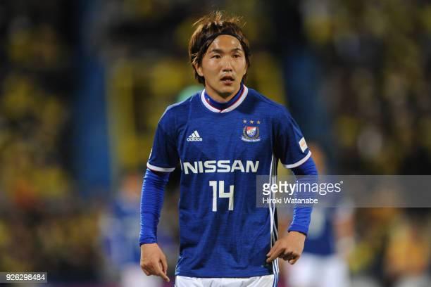 Jun Amano of Yokohama F.Marinos looks on during the J.League J1 match between Kashiwa Reysol and Yokohama F.Marinos at Sankyo Frontier Kashiwa...