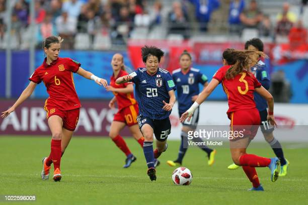 Jun Endo of Japan during the Women's World Cup Final match between Spain U20 and Japan U20 on August 24 2018 in Vannes France