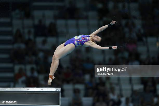 Jun Hoong Cheong of Malaysia competes in the Women's 10m Platform during day five of the 2017 FINA World Championship on July 18 2017 in Budapest...
