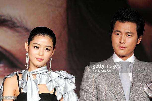 Jun JiHyun and Jung WooSung during 10th Pusan International Film Festival A Night with Daisy Photocall at Westin Chosun Hotel in Pusan Pusan South...