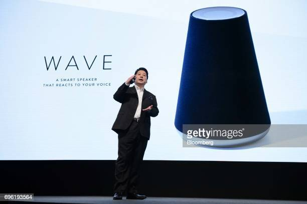 Jun Masuda chief strategy and marketing officer of Line Corp speaks during the companys annual strategy briefing in Tokyo Japan Thursday June 15 2017...