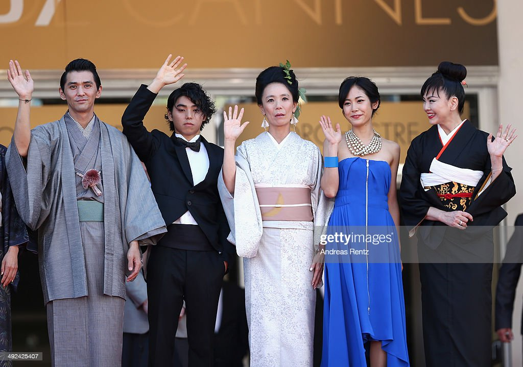 Jun Murakami, Nijiro Murakami, Nijiro Murakami, Jun Yoshinaga and Miyuki Matsuda attends the 'Futatsume No Mado' premiere during the 67th Annual Cannes Film Festival on May 20, 2014 in Cannes, France.