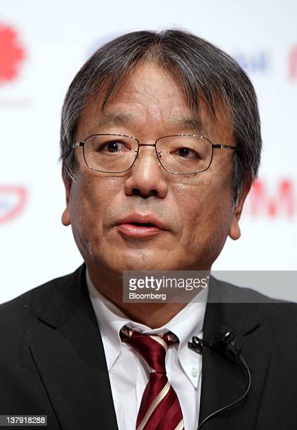 Jun Muto managing director of TonenGeneral Sekiyu KK speaks during a news conference in Tokyo Japan on Monday Jan 30 2012 TonenGeneral Sekiyu KK...
