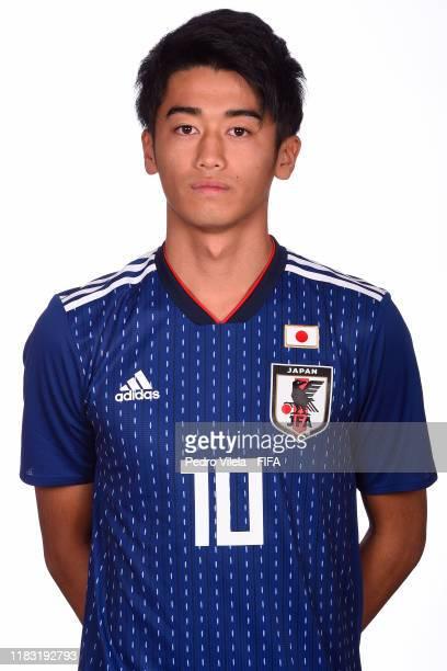 Jun Nishikawa poses during the U17 Japan team presentation on October 24 2019 in Vitoria Brazil