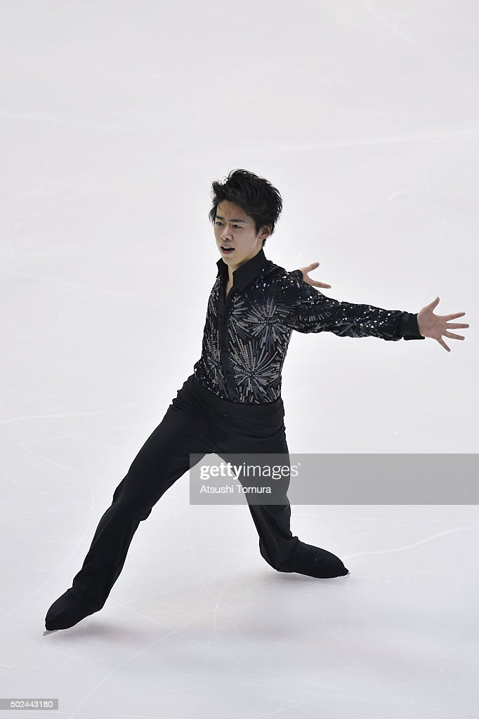 Jun Suzuki of Japan competes in the Men short program during the day one of the 2015 Japan Figure Skating Championships at the Makomanai Ice Arena on December 25, 2015 in Sapporo, Japan.