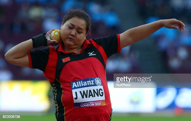Jun Wang of China compete Women's Shot Put F35 Final during World Para Athletics Championships at London Stadium in London on July 21 2017