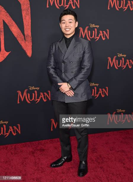 Jun Yu attends the premiere of Disney's Mulan on March 09 2020 in Hollywood California