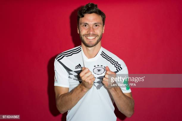 Junas Hector of Germany poses for a portrait during the official FIFA World Cup 2018 portrait session on June 13 2018 in Moscow Russia