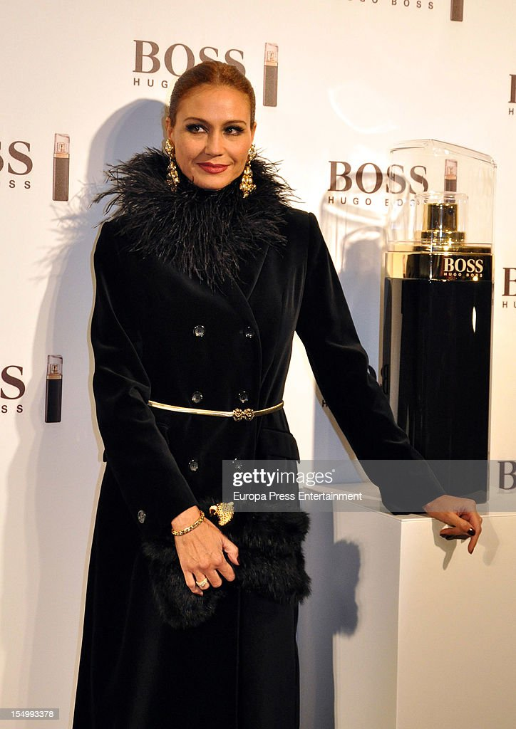 Juncal Rivero attends the launch of 'Boss Nuit Pour Femme' fragrance on October 29, 2012 in Madrid, Spain.
