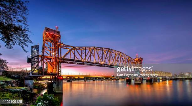 junction bridge,little rock arkansas usa - arkansas stock photos and pictures