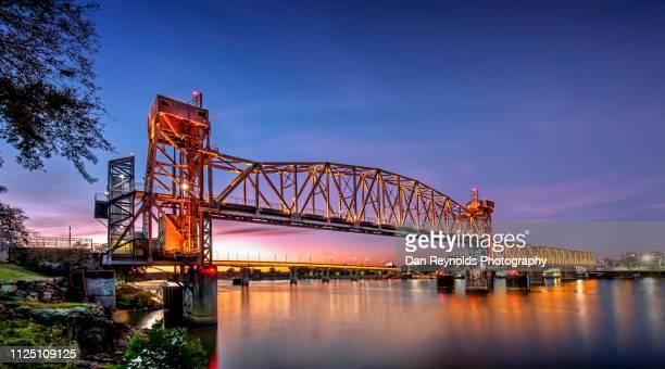 junction bridge,little rock arkansas usa - arkansas fotografías e imágenes de stock