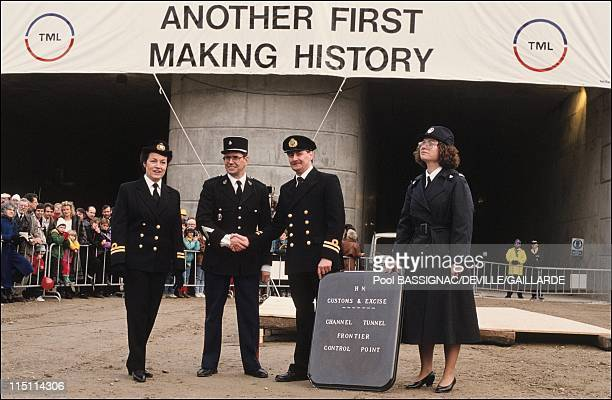 Junction FranceUinted Kingdom st the channel tunnel submarine Manche in France on December 01 1990