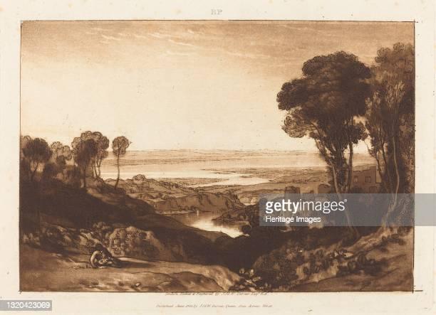 Junction of Severn and Wye, published 1811. Artist JMW Turner.