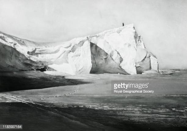 Junction of the Great Barrier and King Edward Land Norwegian Antarctic Expedition 19101912 1911 Artist Roald Amundsen