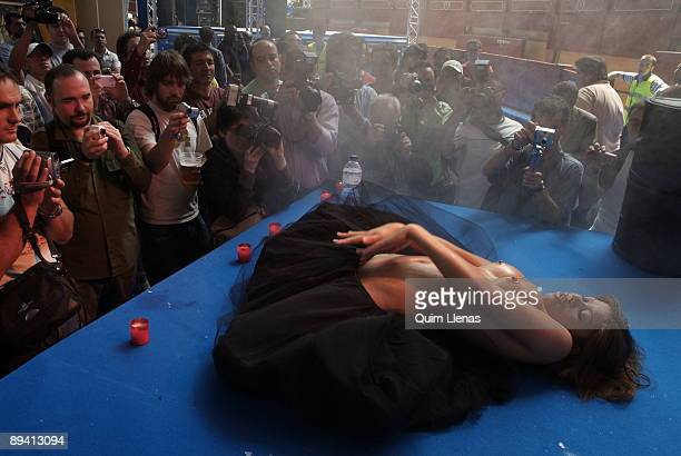 June 03 2006 Bullring of Leganes Madrid Exposex the second edition of the Erotic Festival in Madrid Film projections erotic spectacles in direct and...