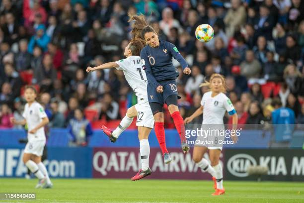 June 07 Amel Majri of France and Kang Yumi of South Korea challenge for the ball during the France V South Korea Group A match during the FIFA...