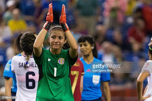 Costa Rica goalkeeper Dinnia Diaz acknowledges the crowd during the 2015 FIFA Women's World Cup Group E match between Spain and Costa Rica at the...
