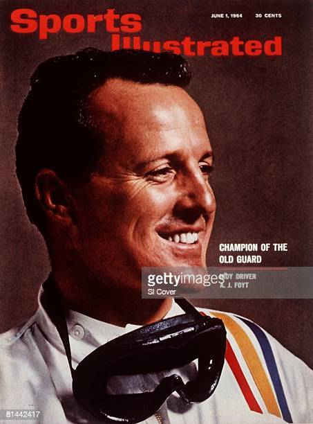 June 1 1964 Sports Illustrated Cover Auto Racing Closeup portrait of AJ Foyt Indianapolis IN 4/16/1964