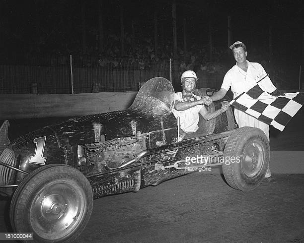 Wally Campbell scored the victory in the NASCAR Speedway Division race at Greensboro Fairgrounds Only 11 cars started the event and the NASCAR...