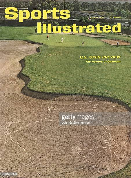 June 11 1962 Sports Illustrated Cover Golf US Open Preview Scenic view of Oakmont CC Oakmont PA 7/13/1961