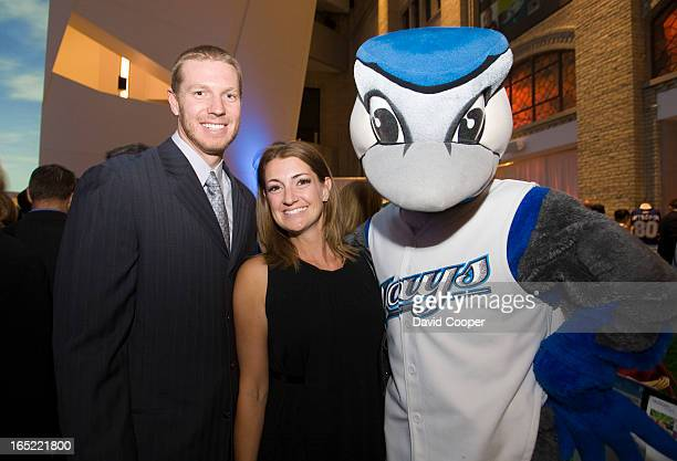 June 11 2008 Roy and Brandy Halladay attending the Jays Care Foundation Field of Dreams event in the Crystal Court at the Royal Ontario Museum...