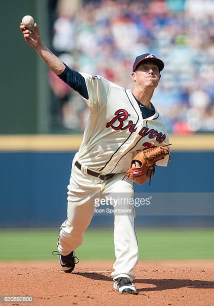 Atlanta Braves Pitcher Matt Wisler [10308] during a game between Chicago Cubs and Atlanta Braves at Turner Field in Atlanta GA