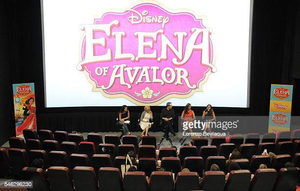 """June 11, 2016 -Cast, producers and guests attended a screening of Disney Channel's """"Elena of Avalor,"""" introducing Disney's first princess inspired by..."""