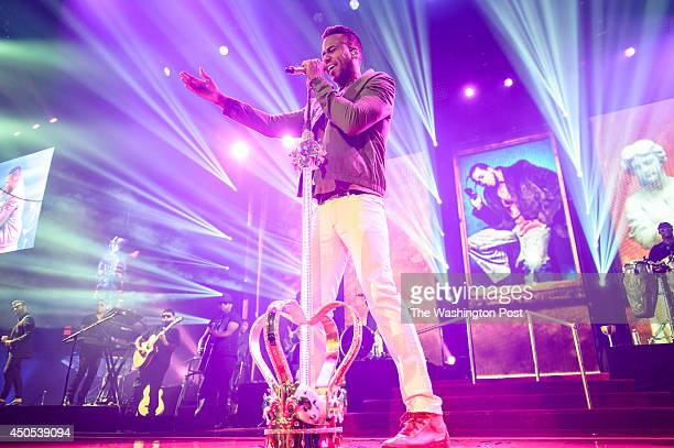 FAIRFAX VA June 11th 2014 Romeo Santos performs at the Patriot Center in Fairfax VA Santos the former lead singer of the Bachata group Aventura...