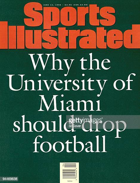 June 12 1995 Sports Illustrated Cover College Football Pell Grant Scandal Illustration of typewritten text WHY THE UNIVERSITY OF MIAMI SHOULD DROP...