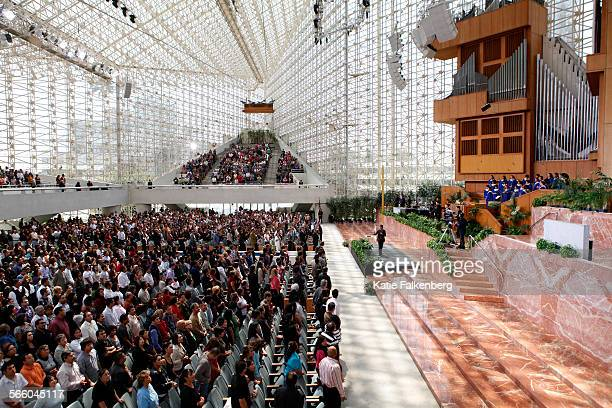 June 12 2011 – Pastor Dante Gebel preaches to the congregation during the Hispanic service at 100 pm at the Crystal Cathedral