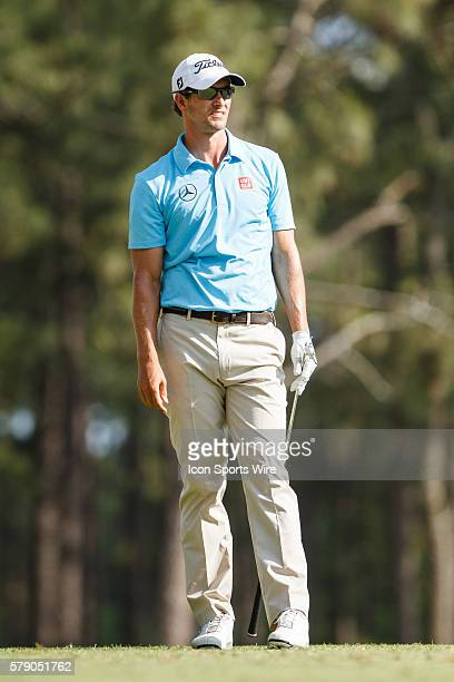 Adam Scott during the first round of the 114th US Open Championship at the Pinehurst No 2 in Pinehurst North Carolina