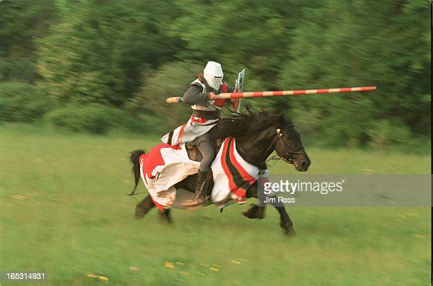 June 13 2001 The four time defending world light armour champion Shamn Adams practices his form at his Dragon Valour farm in GuelphThe Canadian...