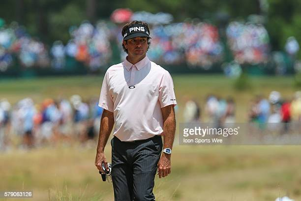 A pensive Bubba Watson during match play at the US Open Championship at Pinehurst No 2 at Pinehurst Resort in Pinehurst NC Martin Kaymer leads with...