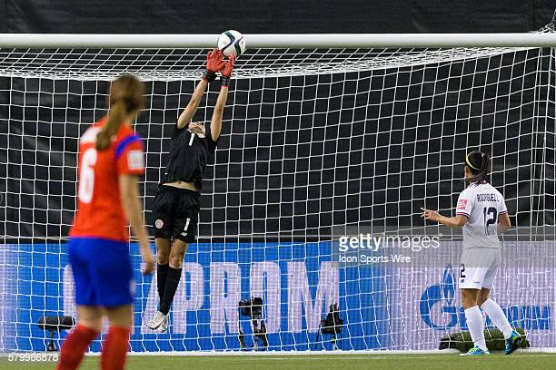 Costa Rica goalkeeper Dinnia Diaz makes a save during the 2015 FIFA Women's World Cup Group E match between Korea and Costa Rica at the Olympic...