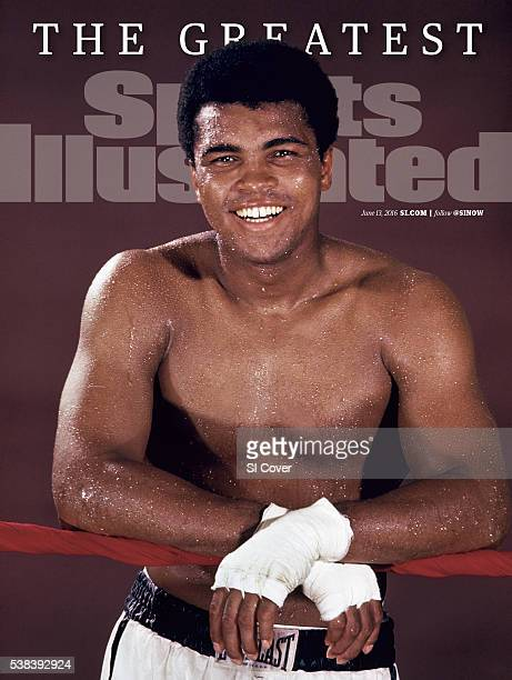 June 13 2016 Sports Illustrated via Getty Images Cover Closeup portrait of Muhammad Ali during training session photo shoot at 5th Street Gym Miami...