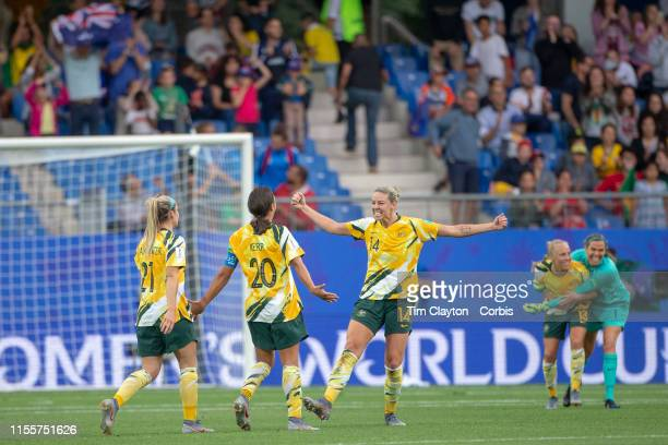 June 13 Australian players Alanna Kennedy of Australia Ellie Carpenter of Australia Sam Kerr of Australia Lydia Williams of Australia and Tameka...