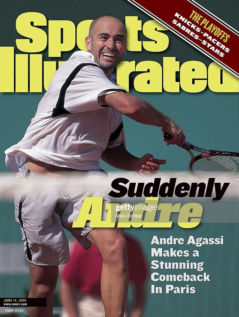 French Open: USA Andre Agassi in action during tournament at Stade Roland Garros. Paris, France 5/24/1999--6/6/1999