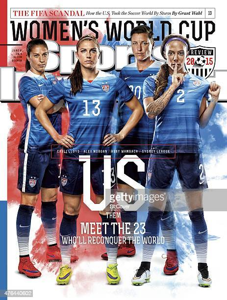 Soccer FIFA World Cup Preview Portrait of US Women's National Team members Carli Lloyd Alex Morgan Abby Wambach and Sydney Leroux during photo shoot...