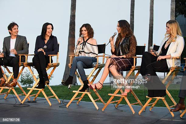 "June 15, 2016 - ""Pretty Little Liars"" and ""Dead of Summer"" premiere event at the Hollywood Forever Cemetery. TYLER BLACKBURN, ANDREA PARKER, LUCY..."