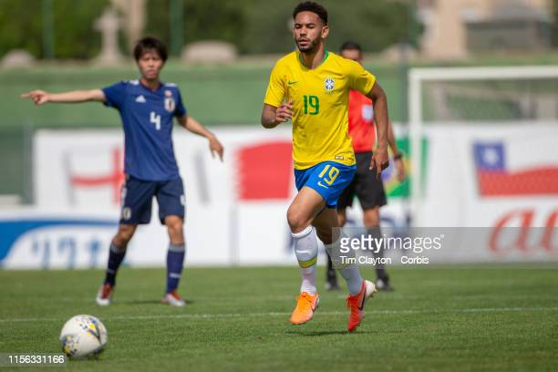 June 15 Matheus Cunha of Brazil in action during the Brazil U22 V Japan U22 Final match at the Tournoi Maurice Revello at Stade D'Honneur on June...