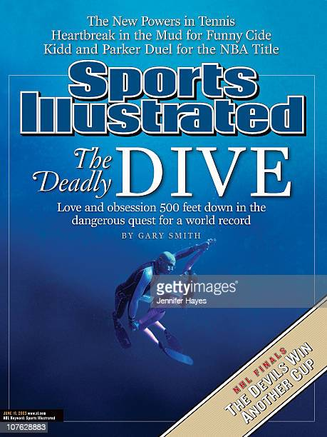June 16, 2003 Sports Illustrated via Getty Images Cover:Freediving: Portrait of husband and wife team Francisco Pipin Ferreras and Audrey Mestre...