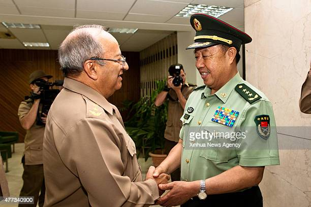 HAVANA June 16 2015 Fan Changlong vice chairman of China's Central Military Commission meets with Cuban Minister of the Revolutionary Armed Forces...