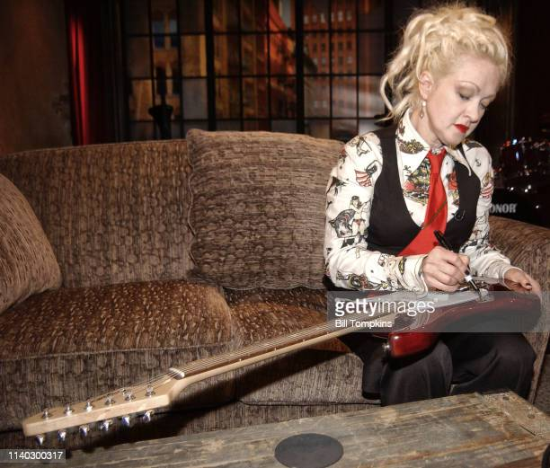 Cyndi Lauper appears on the TV show PRIVATE SESSIONS on June 17 2008 in New York City