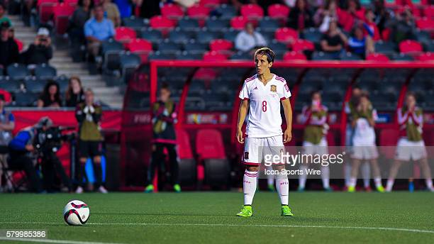 Sonia Bermudez of Spain prepares to take a last minute free-kick during the FIFA 2015 Women's World Cup Group E match between Korea and Spain at...